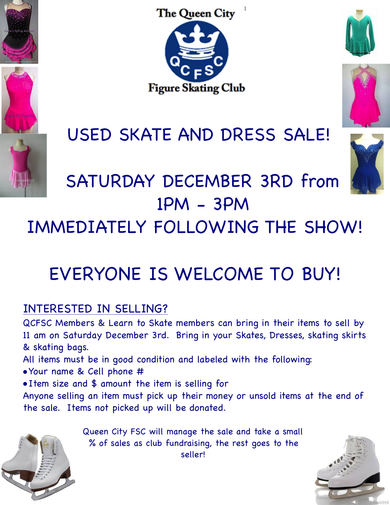 QCFSC Used Skate and Dress Sale